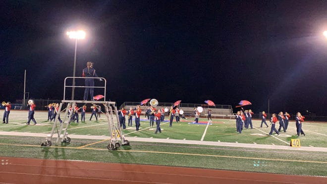 Washington Township High School performs during its COVID Classic Marching Band Festival Oct. 24, 2020.