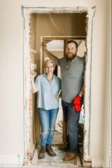 """Erin and Ben Napier of Laurel, Mississippi star in HGTV's hit show, """"Home Town,"""" the first season of which is now streaming on Hulu."""