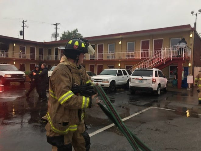 Henderson firefighters responded to the Henderson Downtown Motel Oct. 27 due to flames shooting out the windows and door of a second-floor unit.