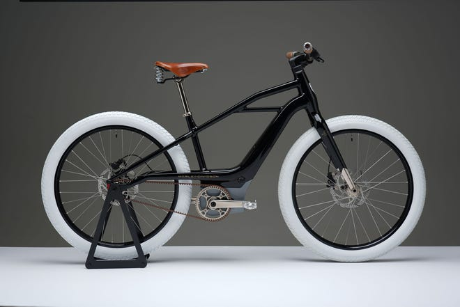 Harley-Davidson has created a new, separate e-bicycle brand. This photo shows a prototype e-bicycle fashioned as a tribute to the original Harley-Davidson motorcycle known as 'Serial Number One.'  Exactly what the e-bicycles will look like has yet to be revealed.