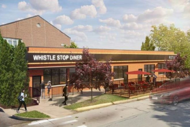 A rendering of renovations made to the Whistle Stop Diner on Eton in Birmingham. The diner was one of six restaurants to apply for a bistro license through the city.