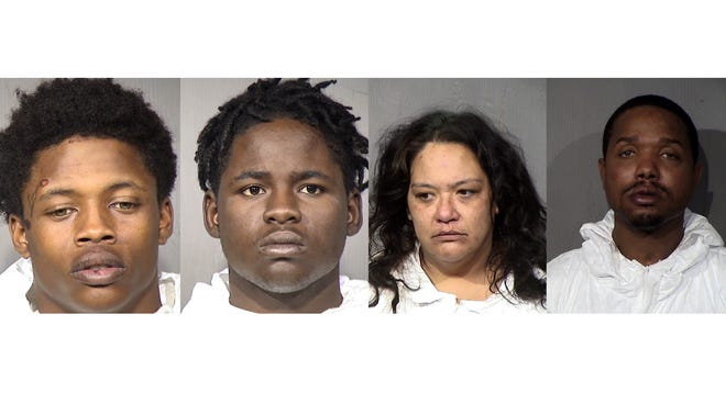 Jaquan Bailey, 18,Stephon Mitchell, 18, Ashley Herrell, 37, and Vincent Culbreath, 38.