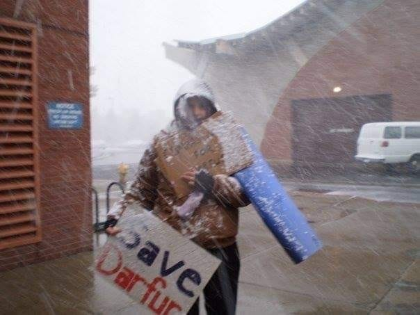 A snowstorm in Flagstaff in 2007 shut down Northern Arizona University and forced a group of students to postpone a protest against genocide in the war-scarred Darfur region of Sudan. Except for Kayla Mueller.