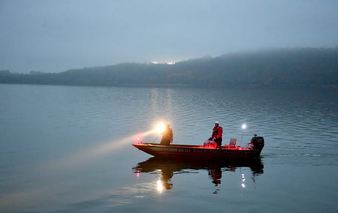 Rescue personnel respond to a report of a car in the Susquehanna River just south of Long Level, Monday, October 26, 2020. John A. Pavoncello photo