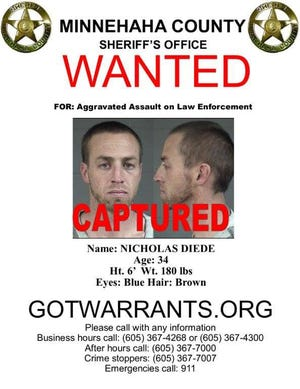 Nicholas Diede's wanted poster