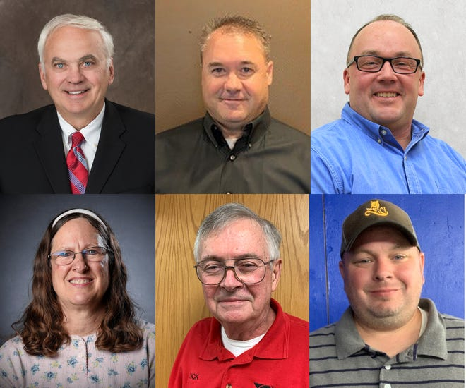 Candidates for Benton County board 2020. Top row, left to right;  Jake Bauerly, Jared Gapinski and Scott Johnson Bottom Row: Beth Schlangen, Dick Soyka,  and Christopher Winkelman.