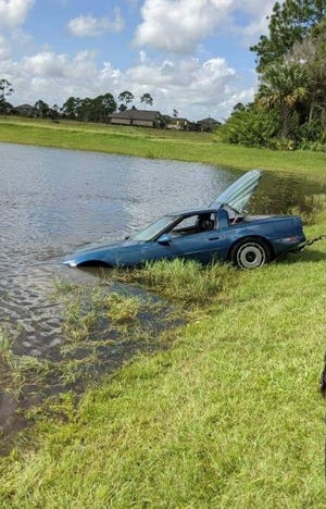 Police said the vehicle is a 1984 Chevrolet Corvette.