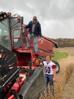 """The Cochrane-Fountain City FFA delivered 200 bagged lunches to area farmers working in the fields as part of their """"Find and Feed a Farmer"""" event. Chapters all across the state are continuing to think of new ways to safely help support the men and women who plant the seeds and harvest the crop."""