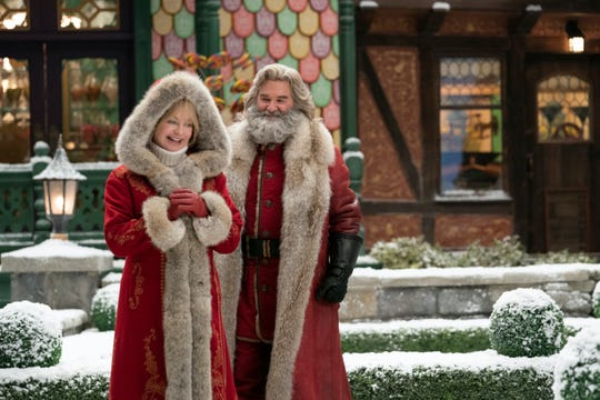 """Santa Claus (Kurt Russell) and Mrs. Claus (Goldie Hawn) return for the family holiday sequel """"The Christmas Chronicles: Part Two,"""" where they team up with a couple of teens to foil a naughty elf who wants to permanently end Christmas."""