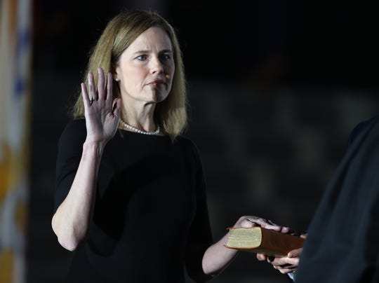 Amy Coney Barrett takes oath as a Supreme Court justice, Republik City News
