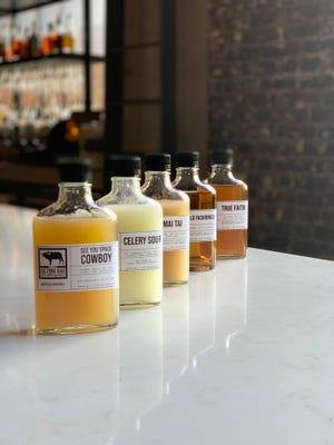 Display of to-go cocktails at Biltong Bar in Atlanta