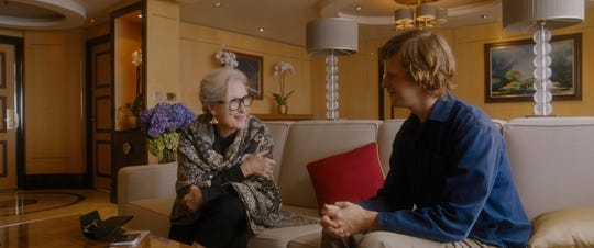 """Meryl Streep stars as a famed author taking a trip with old friends and Lucas Hedges is her nephew who comes along in Steven Soderbergh's """"Let Them All Talk."""""""