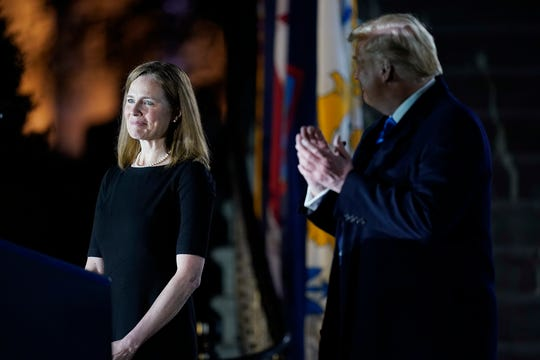 Amy Coney Barrett is one of the three justices President Donald Trump elevated to the Supreme Court, pushing it in a more conservative direction.