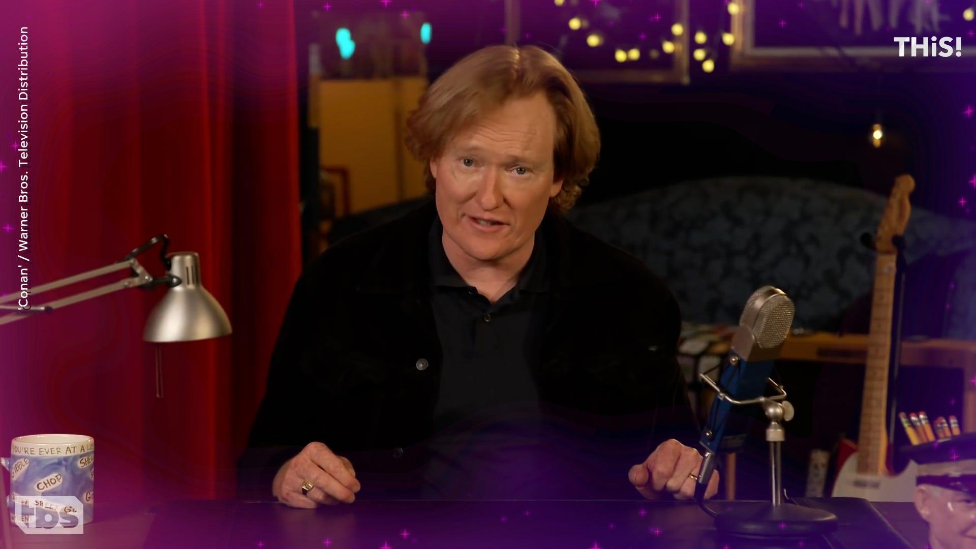 Conan O'Brien says a burglar hit his talk show set: 'We got robbed Andy!'
