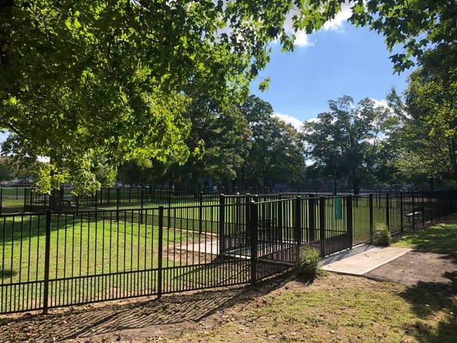 The new Riverton Dog Park in Riverton Memorial Park.