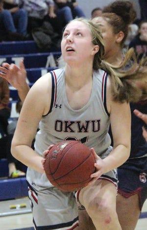 Melanie Williams made a major contribution Tuesday night to Oklahoma Wesleyan University's road win.