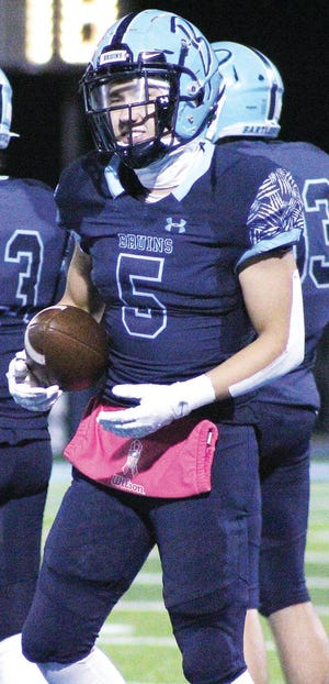 Caden Davis racked up a touchdown last week for Bartlesville High during a 52-8 rout of Putnam City West