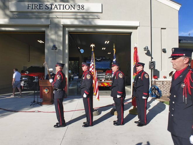 The Bluffton Township Fire District held an opening ceremony for its ninth station, Station 38, on Wednesday. The facility off Raider Drive and Hampton Parkway also serves as a command center.