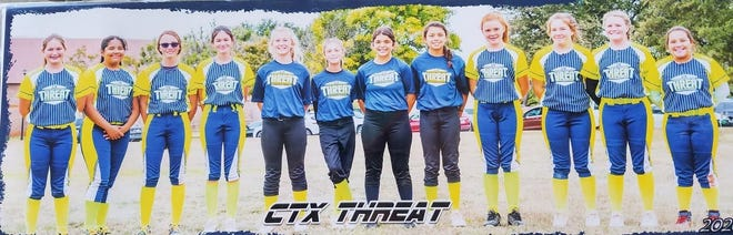 CTX Threat 12U took third place out of 11 teams at FrightFest tournament in Abilene last weekend. The team lost in extra innings 4-3 and did not advance to the championship game.