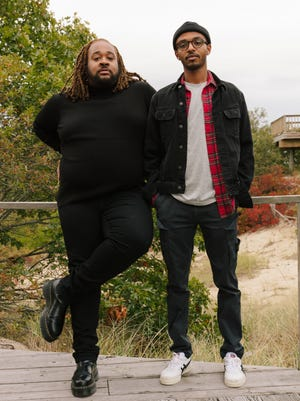 Gioncarlo Valentine (left) and Dawit N.M. in residence at Hawthorne Barn in Provincetown.