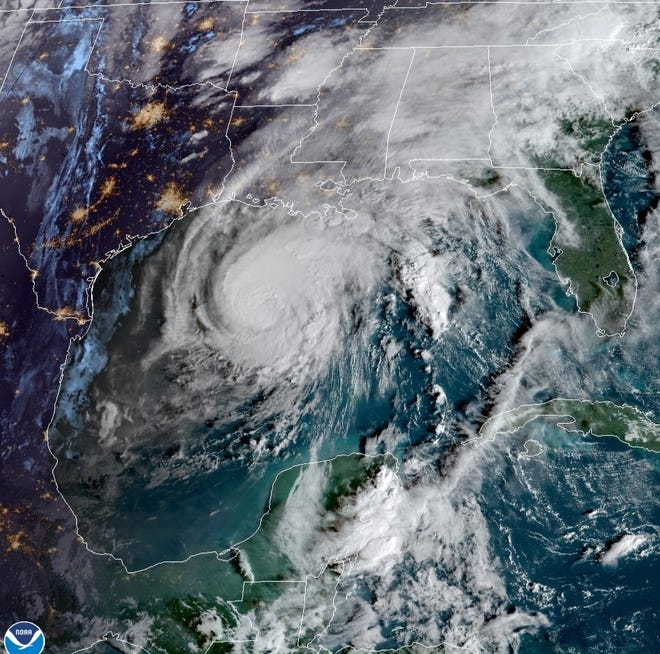 Hurricane Zeta approaches Terrebonne and Lafourche Wednesday as a Category 2 storm.