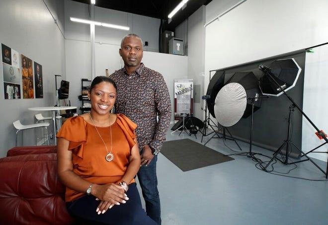 James and LaToya Carey at their studio Kenneth Grant Inzpirations in South Daytona.