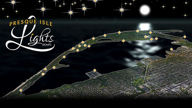 The nonprofit Presque Isle Partnership is staging the new Presque Isle Lights attraction starting in December. Lights will illuminate about a dozen areas of the park over the holiday season.