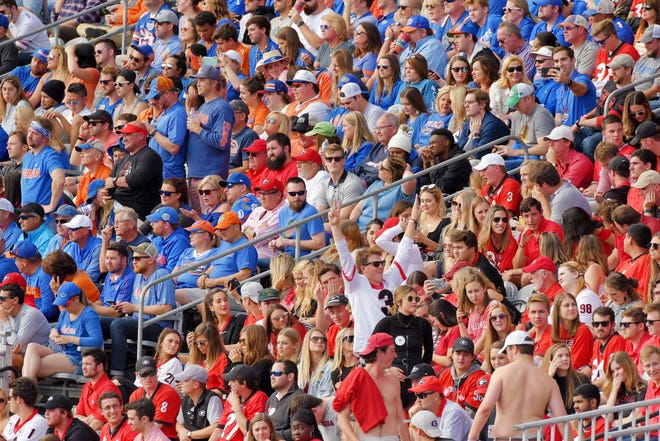 TIAA Bank Field had a full house in 2019 for the annual Florida-Georgia football game, but this year's contest won't be the same because of attendance restrictions caused by the COVID-19 pandemic.