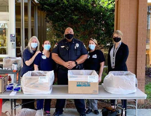 "Jacksonville Police Department Community Services Division recently participated in the National Prescription Take Back Day ""Operation Medicine Drop"" at various area locations and collected the following: 6.93 pounds of controlled substances; 53.46 pounds of prescription medications; 4 pounds of vet medicine; 31.1 pounds of ""other"" medicine; and 24.4 pounds of over the counter medicine."