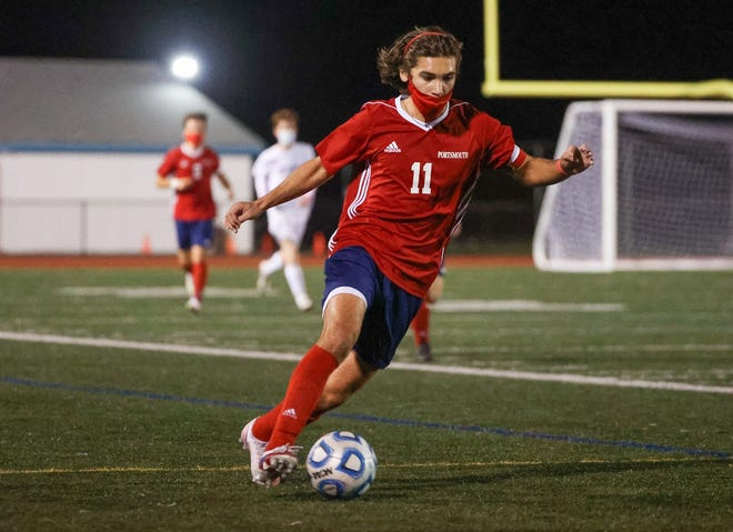 Sam Stamoulis had a goal and an assist in helping Portsmouth notch a 2-1 over North Kingstown.