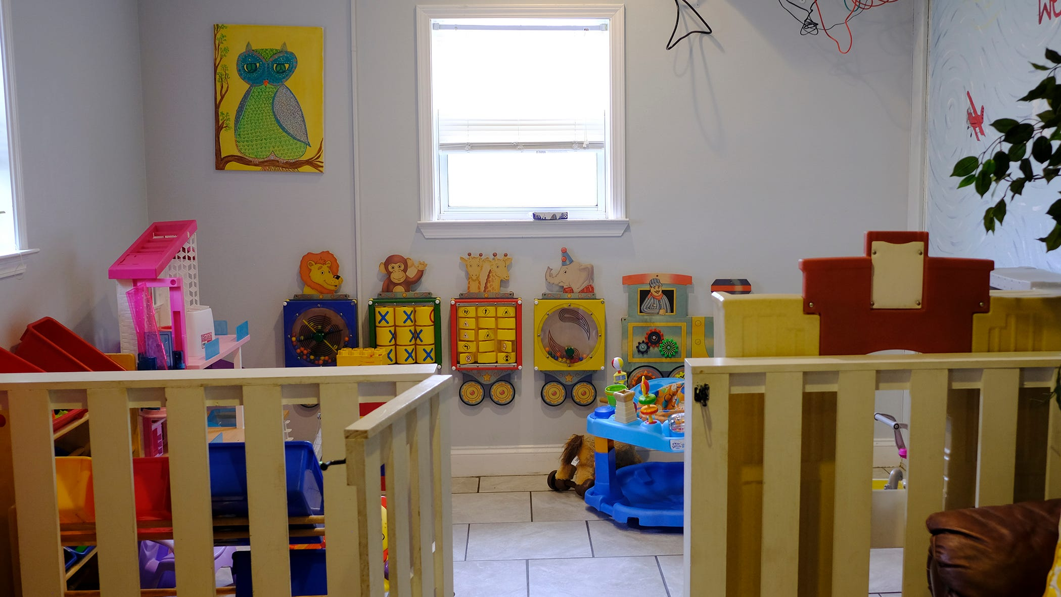 The indoor children's play area at Opportunity Place shelter will be moved as part of the expansion project.