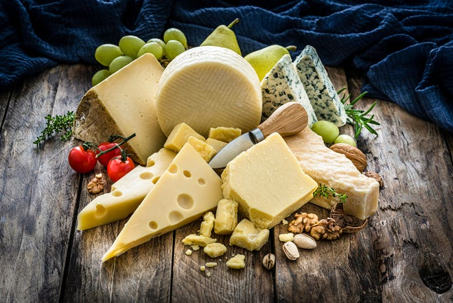 Reading food labels is key to making wise choices around cheese.You may want to look at total fat, saturated fat, calories, protein, calcium and sodium. A typical serving size of hard cheeses is one ounce. For ricotta cheese it is ¼ cup and for cottage cheese ½ cup. [Getty Images]
