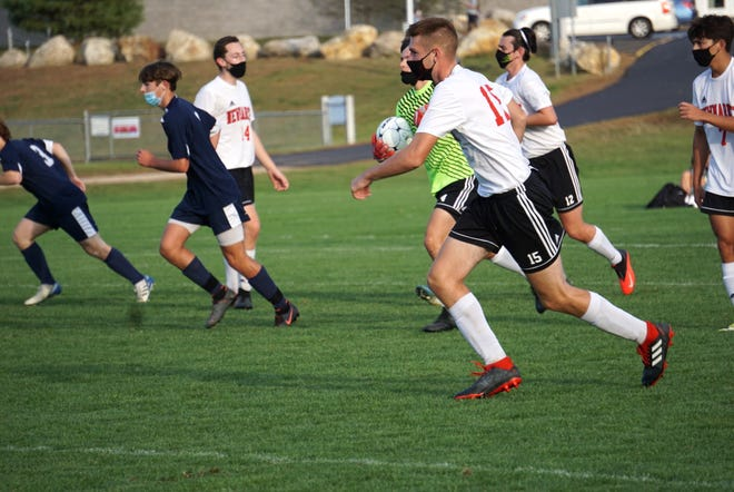 The Newmarket High School boys and girls soccer teams opted out of the Division IV state tournaments this week because their opponents would not agree to wear masks per its school policy during the coronavirus pandemic.