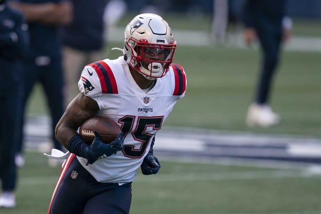 Patriots receiver N'Keal Harry missed practice on Wednesday. [AP File Photo/Stephen Brashear]
