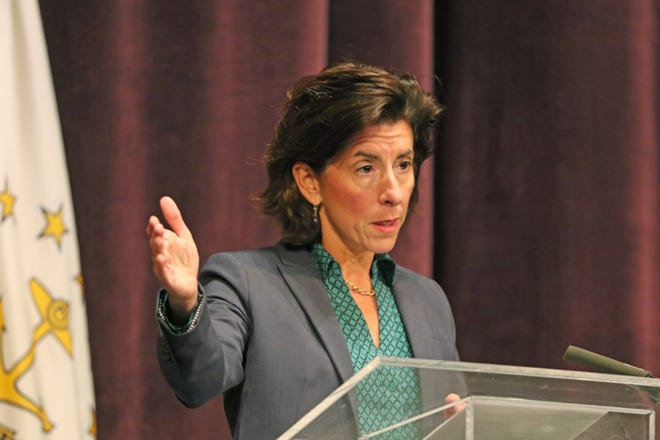 PROVIDENCE, RI  -  10/28/20  Governor Gina Raimondo hold her weekly virus update at the Veterans Memorial Auditorium.  [The Providence Journal / Sandor Bodo]