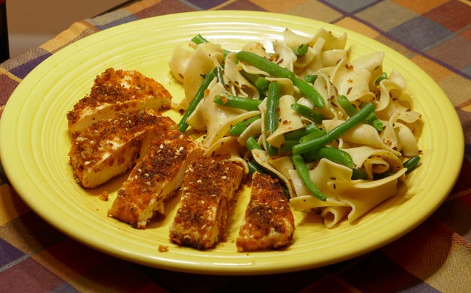 Smoked Paprika Chicken with Caraway Noodles is a nice weeknight dish.