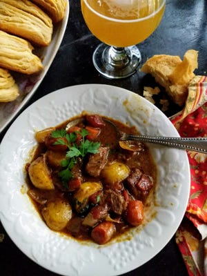 Curried beef stew is a warm, hearty dish when the weather turns cool.