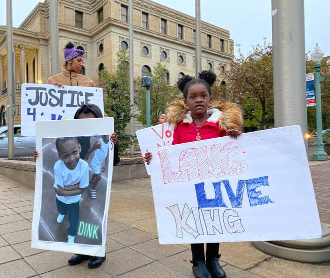 Relatives of King Pleasant protest regularly in downtown Canton. The 6-year-old was fatally shot by an 11-year-old in September, according to Canton police.