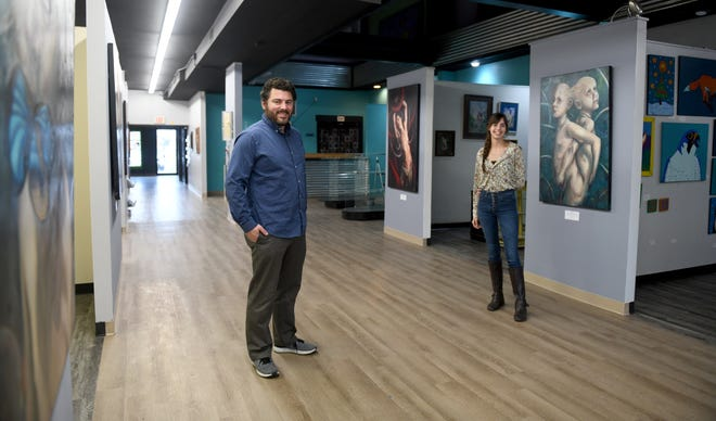 Neil Weakland is owner-director and Alaska Thompson is curator at Vital Arts Gallery, opening today in the downtown Canton arts district.