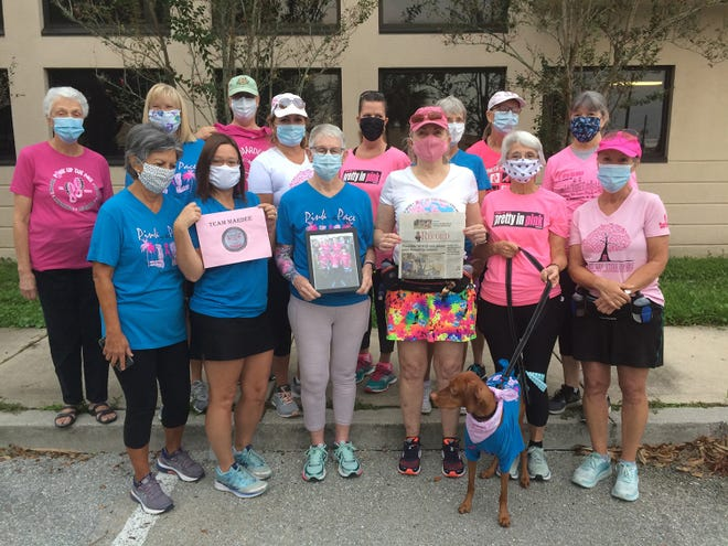 Pink up the Pace 5K: Team Mardee ran/walked the virtual Pink up the Pace 5K in memory of Mardee Jenarette. Submitted by Judy Hagen-Kashou.