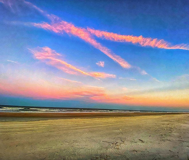 Think Pink! A view from St. Augustine Beach.