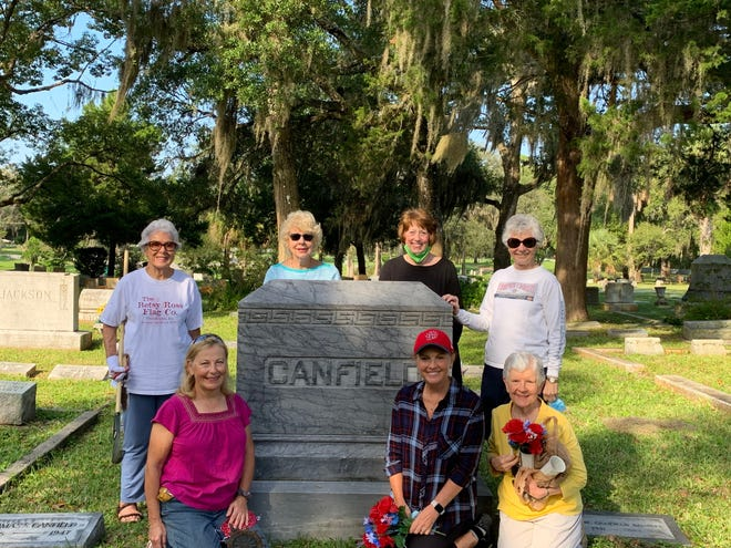 Members of the Maria Jefferson Chapter, Florida State Society Daughters of the American Revolution cleaned the headstones belonging to past officers during a national day of service.