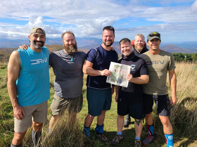 Appalachian Trail: Six St. Augustine friends took The Record along on their semiannual Appalachian Trail trip. Aaron Johnson, Andy Rowe, Andy Norman, Josh Kass, Luke Kelleher and Prim Parker on top of Max Patch, North Carolina.