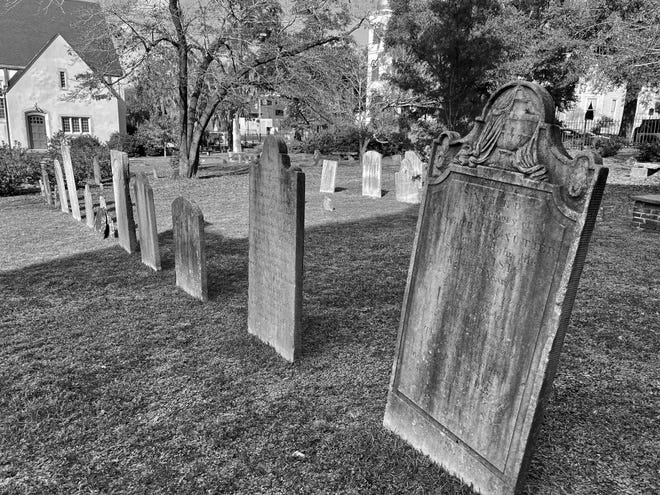 St. James Episcopal Church graveyard in downtown Wilmington is one of the places said to be haunted by former residents of Wilmington.