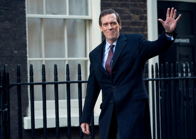 "Hugh Laurie portrays a heedless British politician beset by scandal in the four-episode series ""Roadkill,"" premiering on PBS' MASTERPIECE Nov. 1."