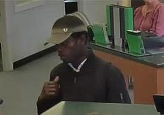 Worcester police released this security camera image of a bank robbery suspect at TD Bank, 430 West Boylston St., on Oct. 20, 2019