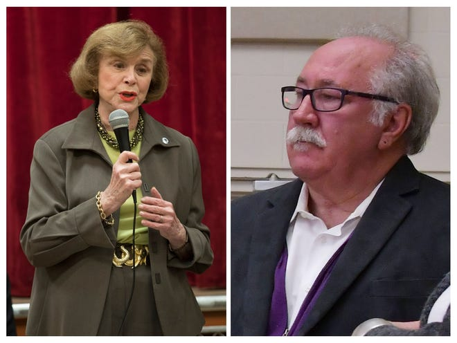 State Sen. Harriette Chandler, left, and state Rep. James O'Day were among the many Central Mass. legislators without an opponent on Tuesday's ballot.