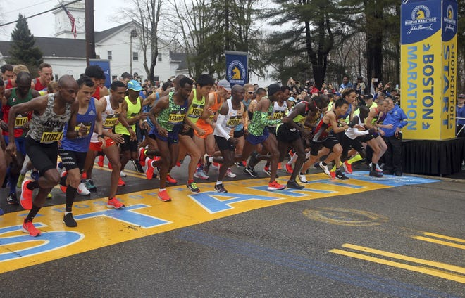 Next year's Boston Marathon has been postponed, officials announced Wednesday. Organizers say it will be put off at least until the fall of 2021. [File Photo/The Associated Press]