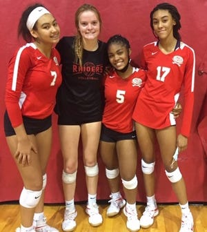 Jalyn Stout, Rylie Tam, Miya Thomas and Joselynn Sanjurjo helped Santa Fe eliminate South Walton 3-1.