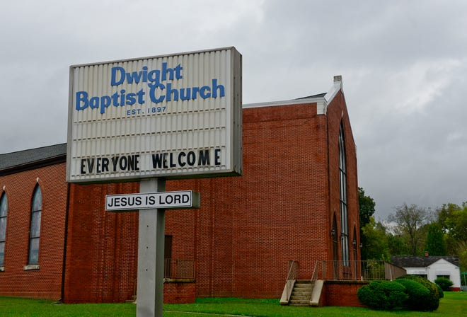 Dwight Baptist Church in Alabama City is pictured on Wednesday. The church recently made the decision to move back to virtual services after a number of COVID-19 cases in the congregation.